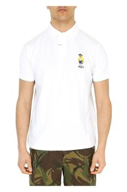 Custom fit polo shirt with Bear embroidery