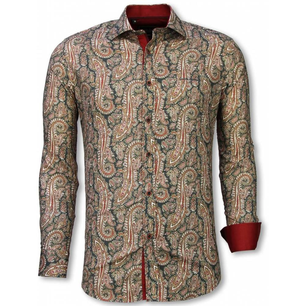 Slim Fit Shirt Cashemira Paisley Pattern
