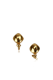 CC Gold Toned Clip On Drop Earrings