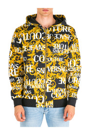 men's sweatshirt with zip sweat logo baroque