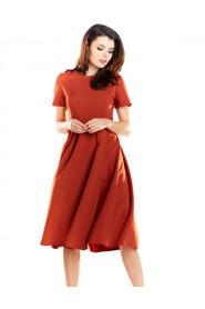 Sukienka midi z krótkim rękawem A253