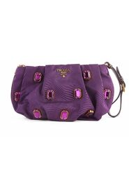 Pre-owned Jeweled Wristlet Clutch