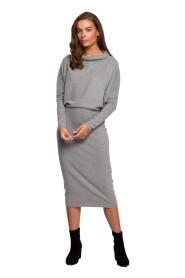 Sukienka Z Drapowanym Dekoltem