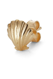 Salon Scallop Front ear stud, gold-plated sterling silver
