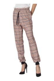 spodnie dresowe w kratę