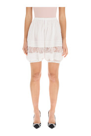 Shorts with lace details