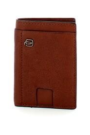 Black Square RFID vertical credit card holder
