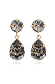 Caroline Svedbom Classic Drop Earrings Black diamond