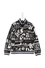 Full zip sweatshirt with lettering