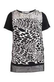 Printed Silk T Shirt