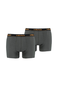 HEAD 2-pack heren boxershort Basic - groen/oranje-S
