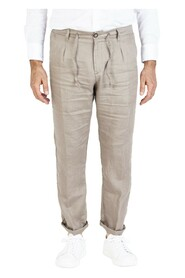 trousers without pleats with drawstring