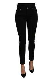 Mid Waist Slim Fit Slim Fit  Jeans Pant