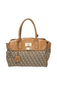 Signature Canvas and Leather Heritage Lock Tote