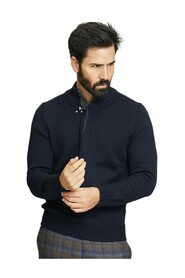 HOOK HIGH NECK SWEATER FAY
