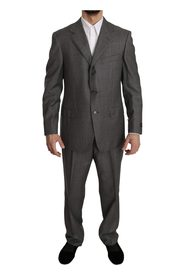 Solid 2 Piece 3 Button Wool Suit