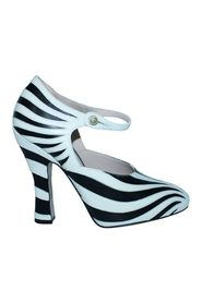 Zebra Leather Heels