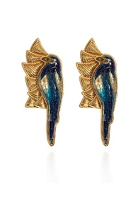 'The Magpie' gold-plated clip-on earrings