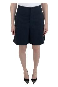 Marineblå shorts med høy midje