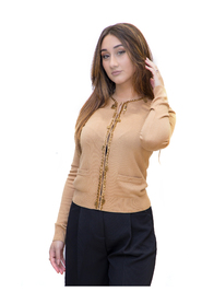 Cardigan Beige con Charms