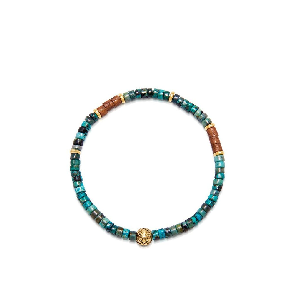 The Heishi Bead Collection - African Jade and Gold