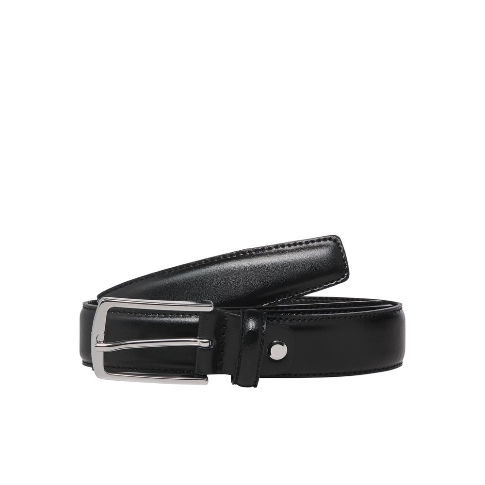 Clean-cut leather belt
