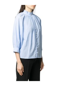 HIGH NECK PLEATED BLOUSE