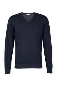 Wool jumper with  V  neck
