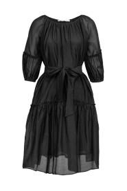 Sheer Midi Short Sleeve Dress