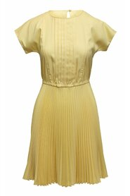 Pre-owned Short Sleeve Pleated Dress