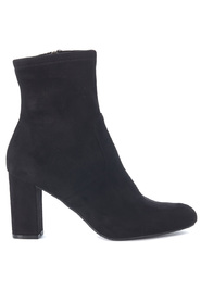 Avenue black micro suede ankle boots