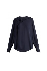 Sinclair ruched silk-crepe blouse