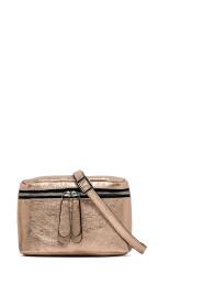 Laminated leather belt bag