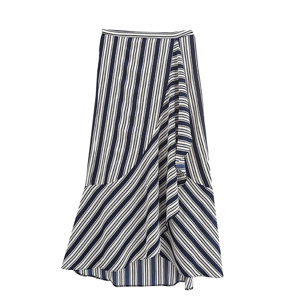 LILLY Striped Wrap-Skirt