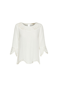 Cream Kalanie Blouse Chalk