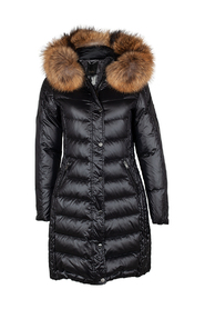 Evelyn Blank Black / Nature Down jacket