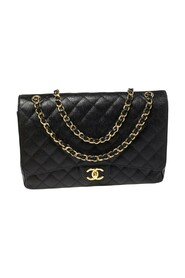 Pre-owned Quilted Caviar Leather Maxi Classic Double Flap Bag