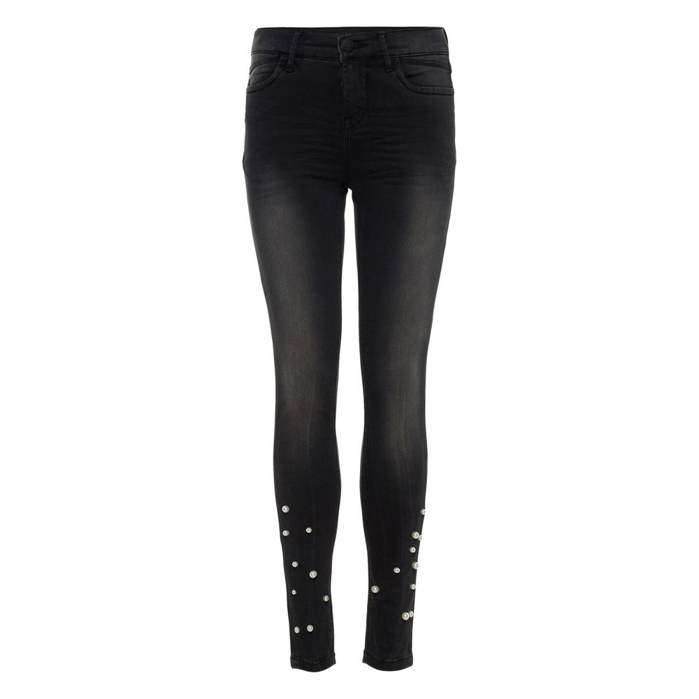Jeans skinny fit pearl embellished
