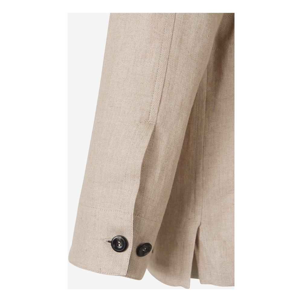 Brioni BEIGE Cotton and Linen Safari Jacket Brioni