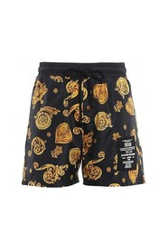 SHORT LOGO BLACK GOLD VERSACE