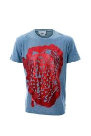 Graffiti T-skjorte med trykk
