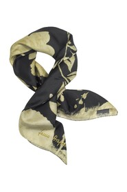 Floral Printed Twill Silk 90x90 Square Scarf