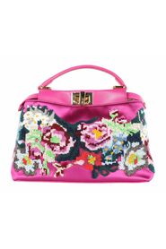 Peekaboo Iconic Mini Beaded Floral Tote Bag