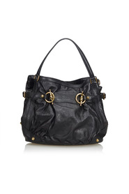 Leather Jockey Shoulder Bag
