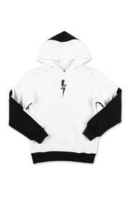 Hoodie with contrasting panels