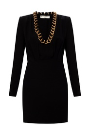 Dress with chain link trim