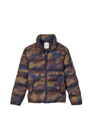 Obifem camouflage pattern short down jacket