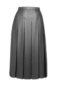 Zilverkleurige rok met brede plooien