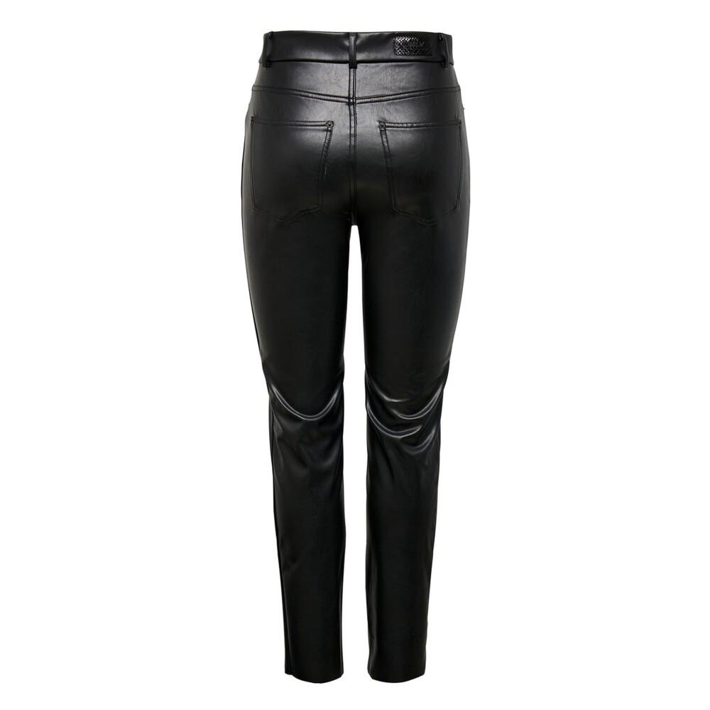 Imiteret læder bukser | ONLY | Bukser | Miinto.dk