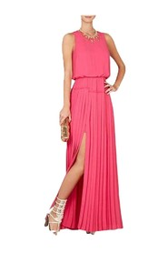 Jenine High Split Pleated Maxi Dress